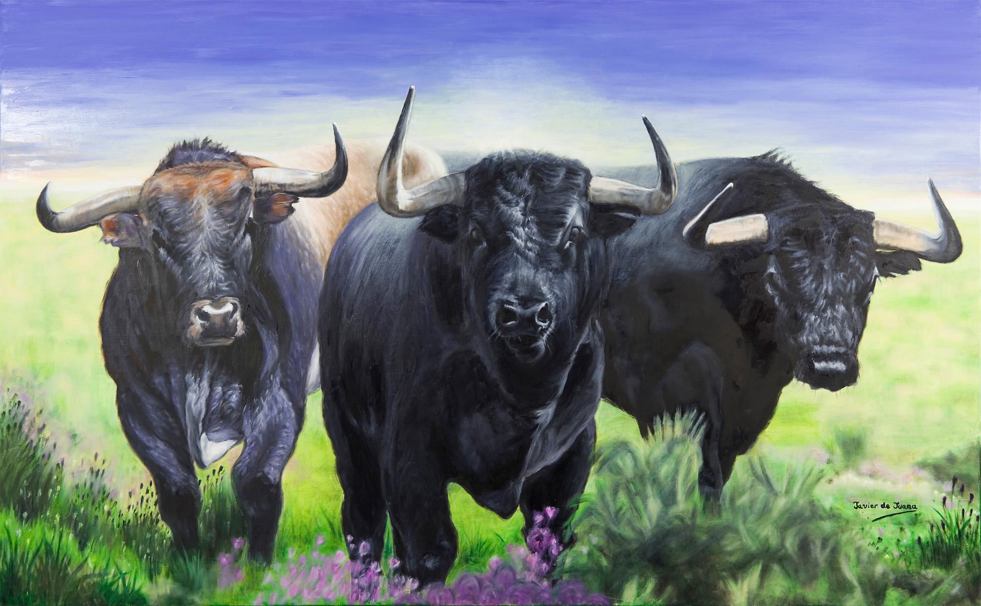 Cuadro de Toros - Pintura de Javier de Juana